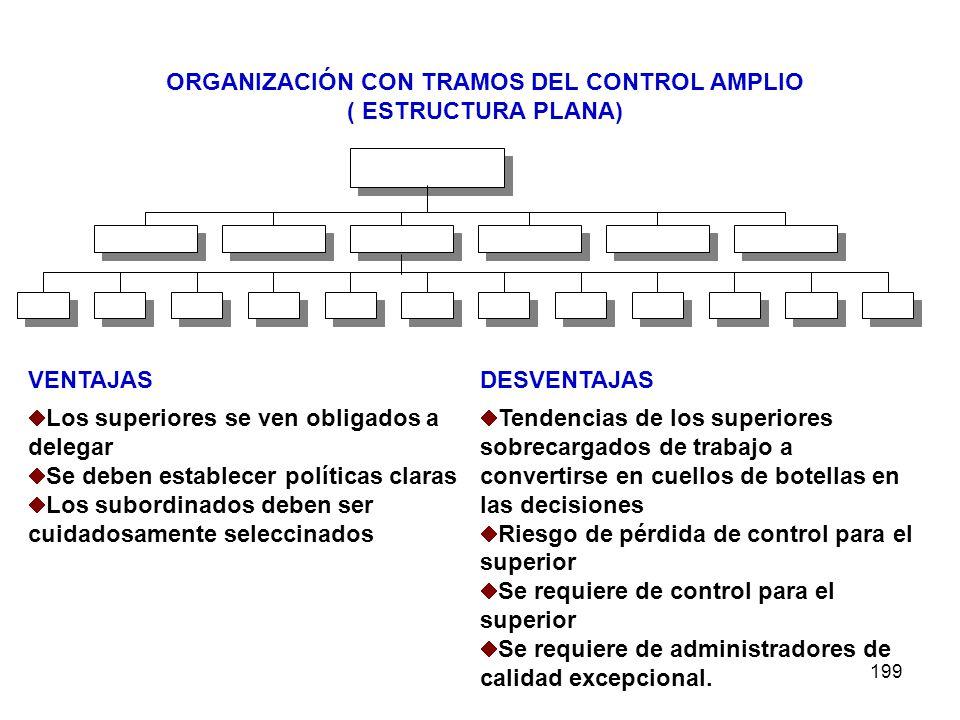 ORGANIZACIÓN CON TRAMOS DEL CONTROL AMPLIO