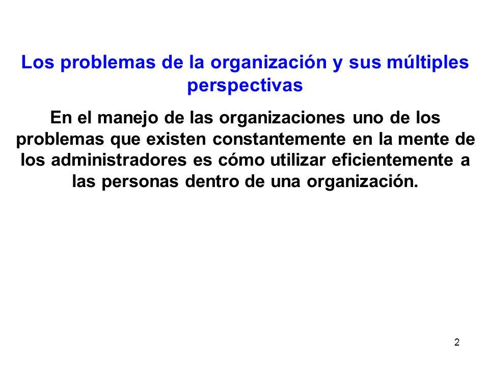 Los problemas de la organización y sus múltiples perspectivas
