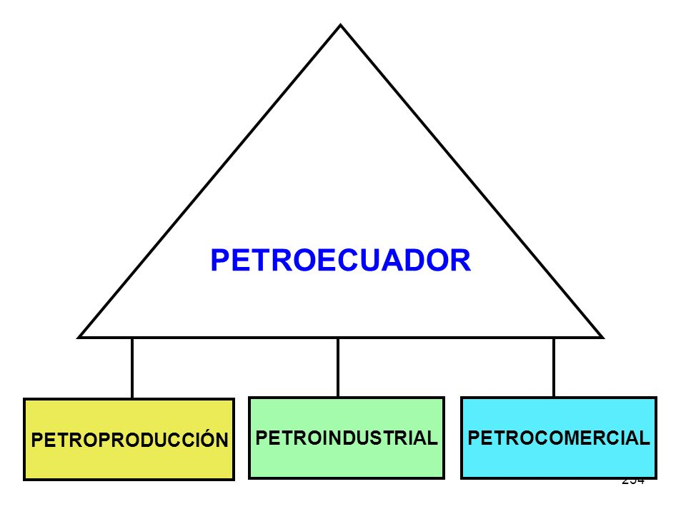 PETROECUADOR PETROPRODUCCIÓN PETROINDUSTRIAL PETROCOMERCIAL