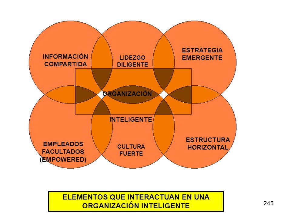ELEMENTOS QUE INTERACTUAN EN UNA ORGANIZACIÓN INTELIGENTE