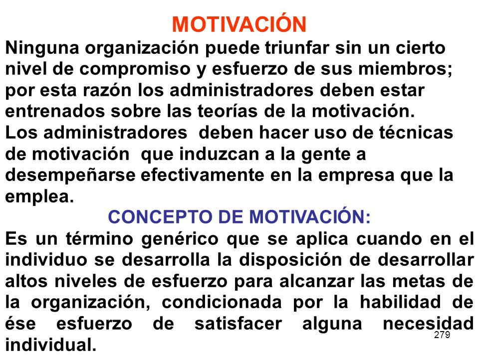 CONCEPTO DE MOTIVACIÓN: