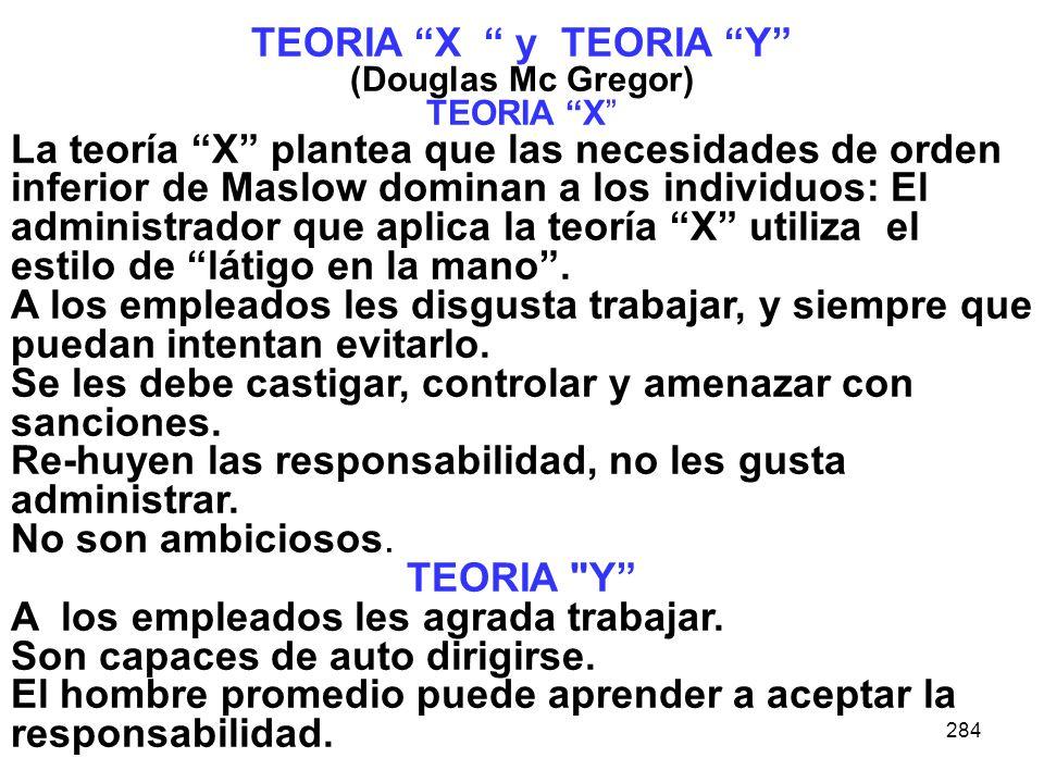 TEORIA X y TEORIA Y TEORIA Y