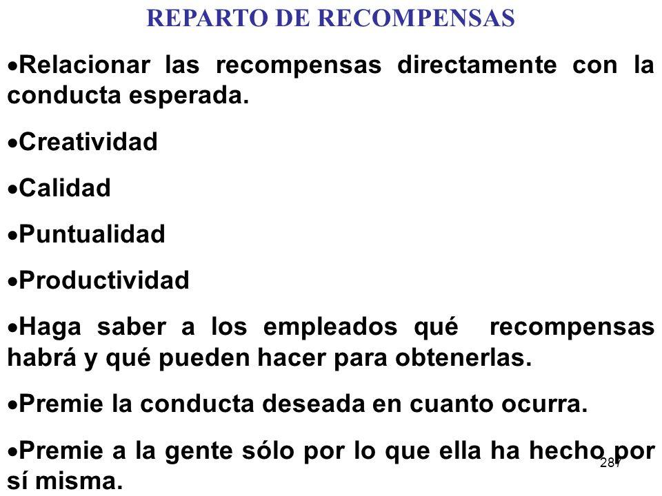 REPARTO DE RECOMPENSAS