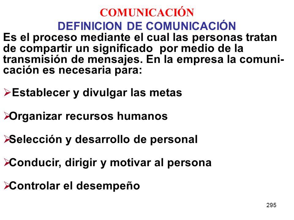 DEFINICION DE COMUNICACIÓN