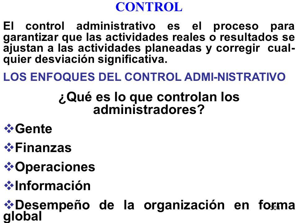 ¿Qué es lo que controlan los administradores
