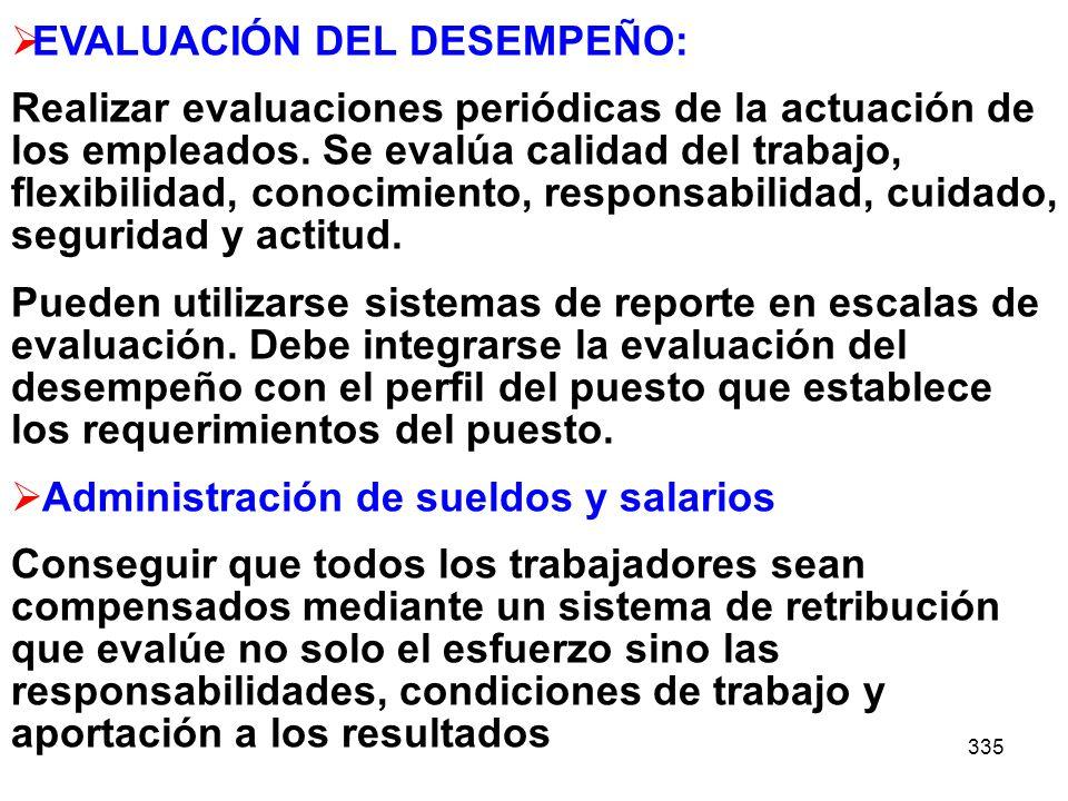EVALUACIÓN DEL DESEMPEÑO: