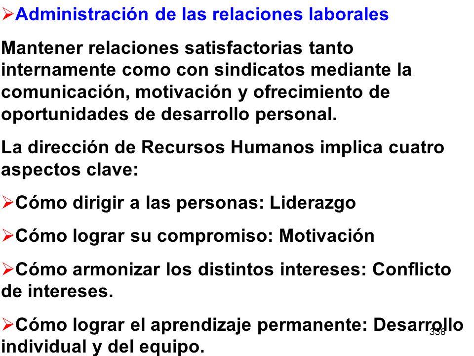 Administración de las relaciones laborales