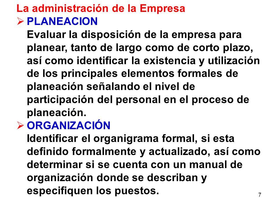 La administración de la Empresa