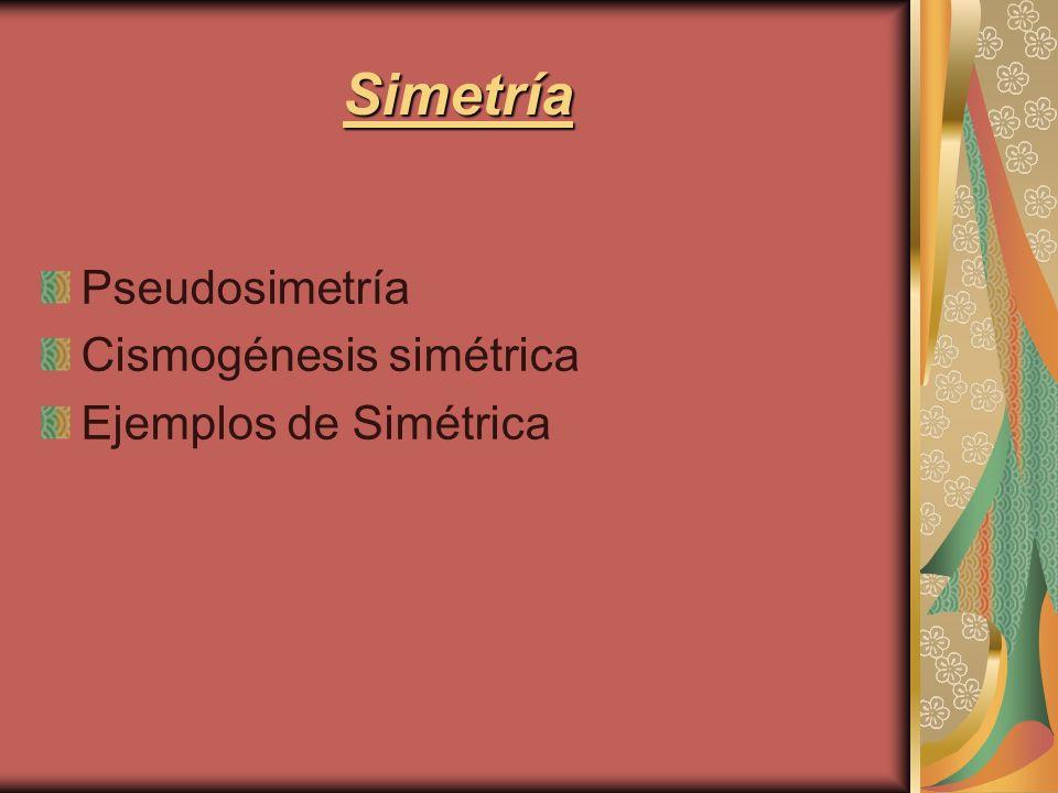 Simetría Pseudosimetría Cismogénesis simétrica Ejemplos de Simétrica