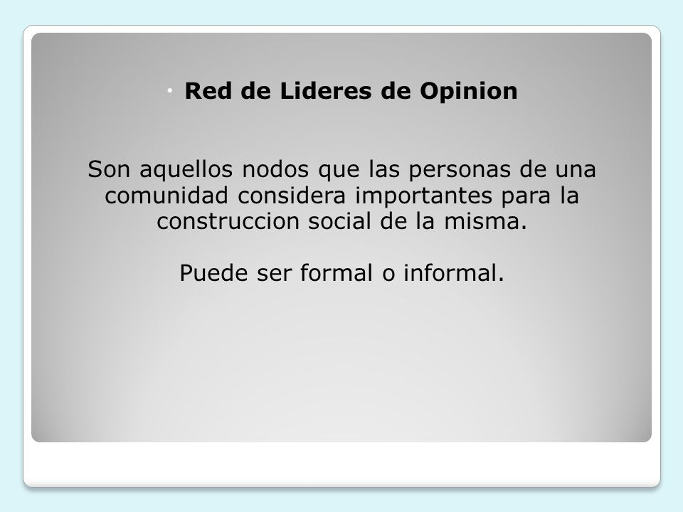 Red de Lideres de Opinion