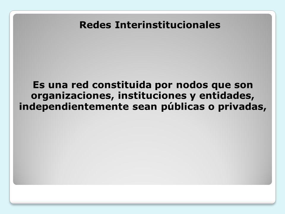 Redes Interinstitucionales