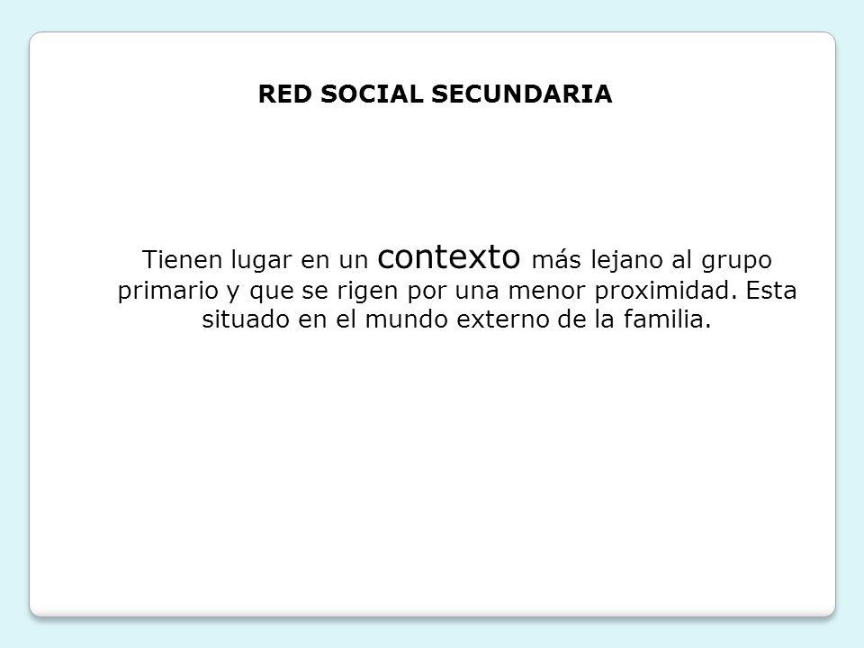 RED SOCIAL SECUNDARIA