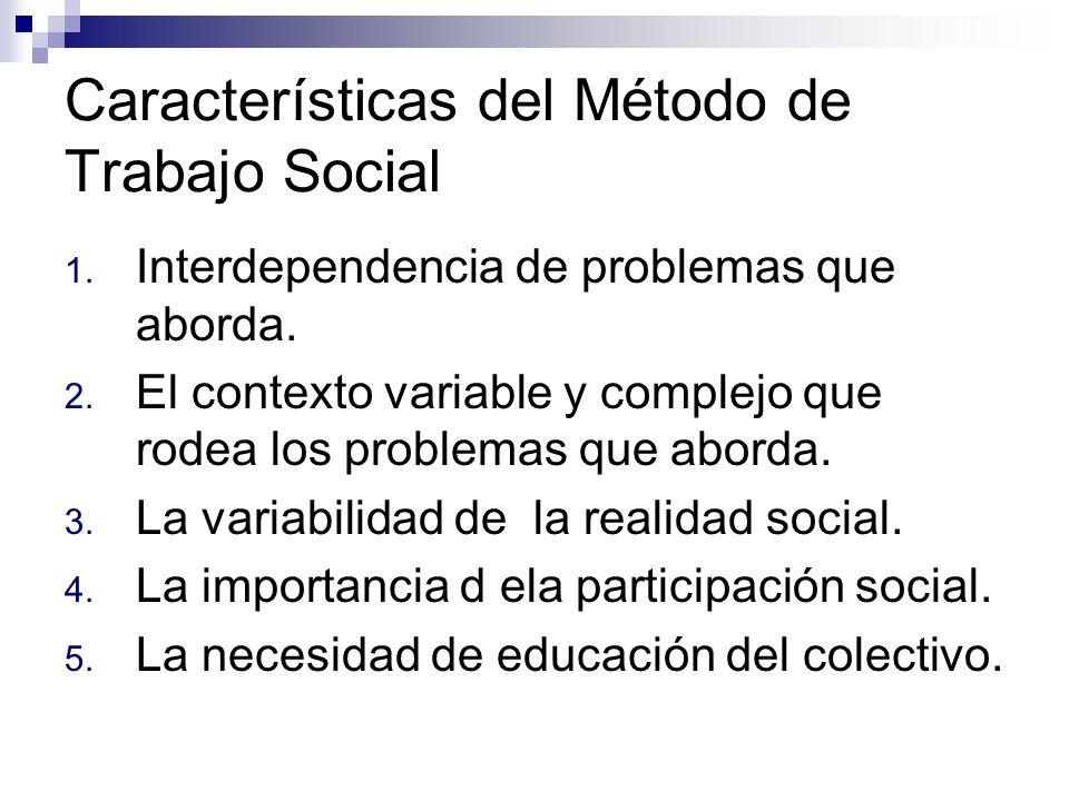 Características del Método de Trabajo Social