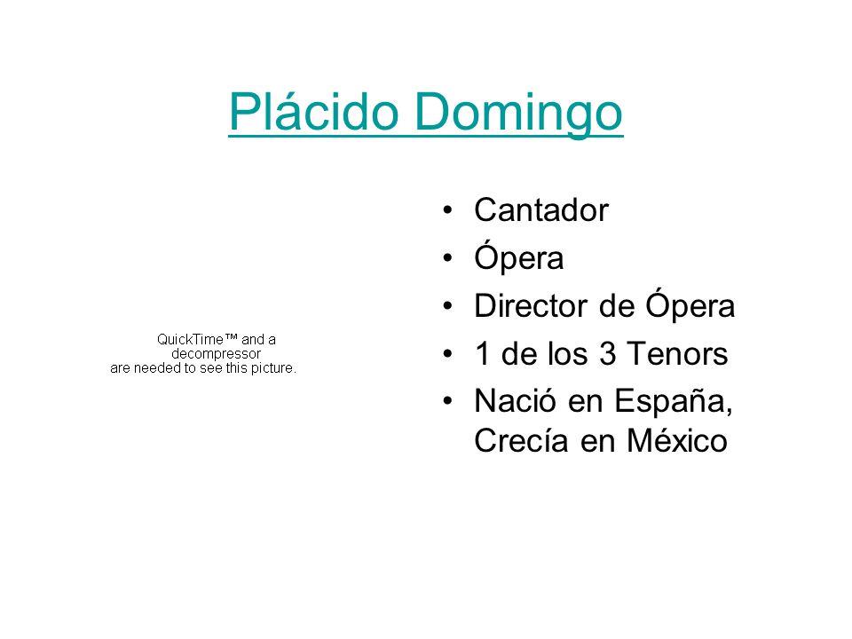 Plácido Domingo Cantador Ópera Director de Ópera 1 de los 3 Tenors