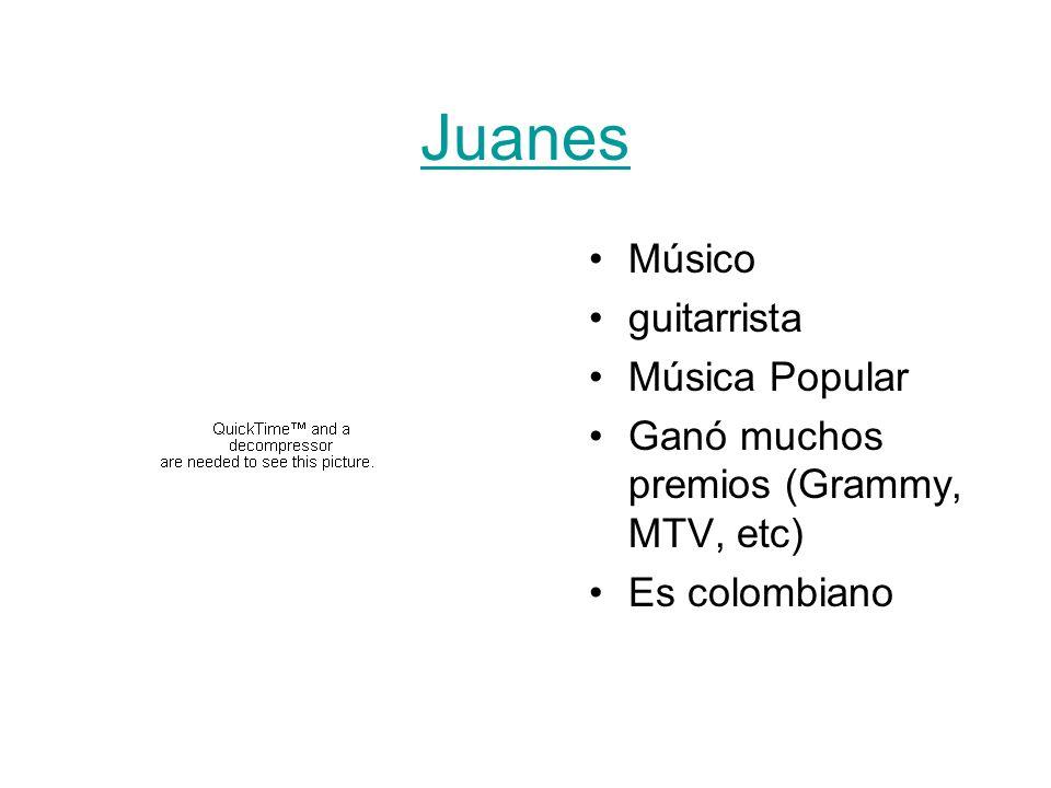 Juanes Músico guitarrista Música Popular