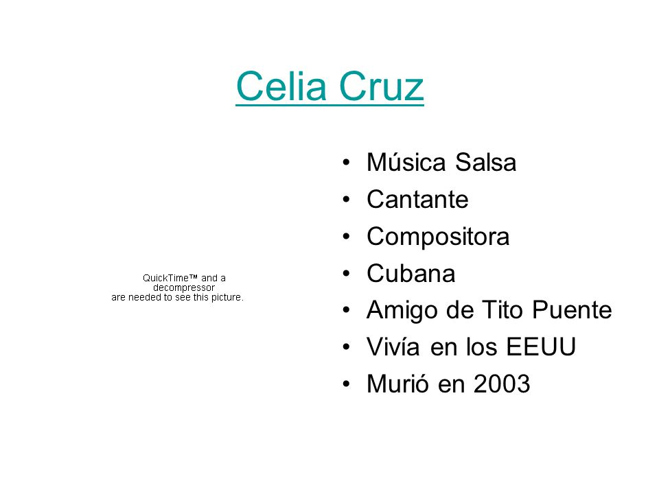 Celia Cruz Música Salsa Cantante Compositora Cubana