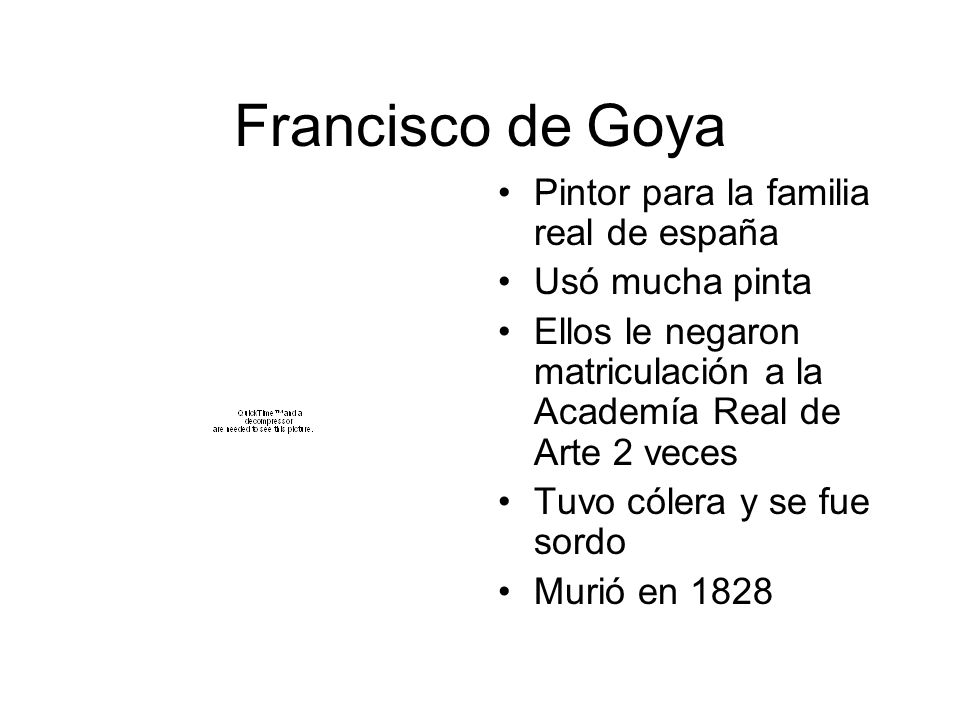 Francisco de Goya Pintor para la familia real de españa