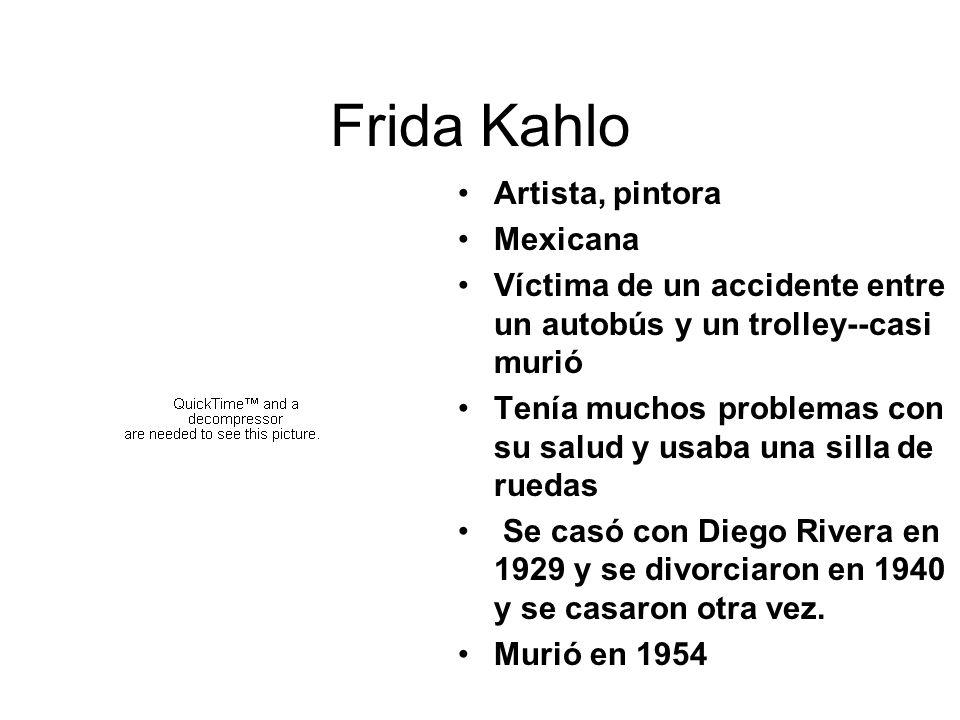Frida Kahlo Artista, pintora Mexicana