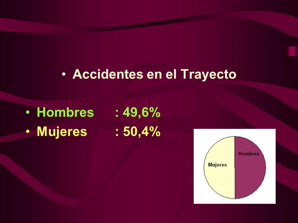 Accidentes en el Trayecto