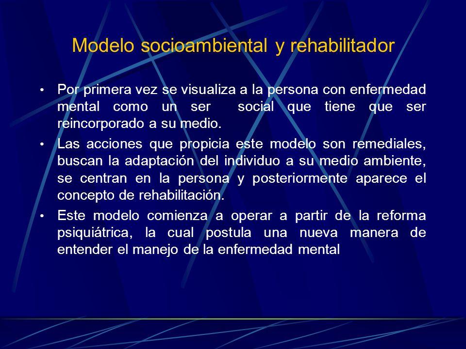 Modelo socioambiental y rehabilitador