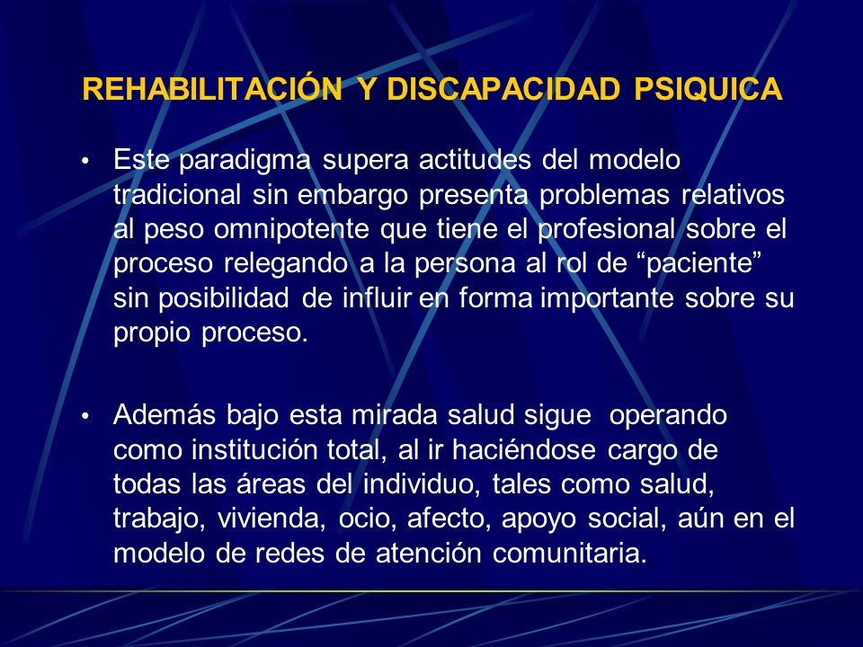 REHABILITACIÓN Y DISCAPACIDAD PSIQUICA