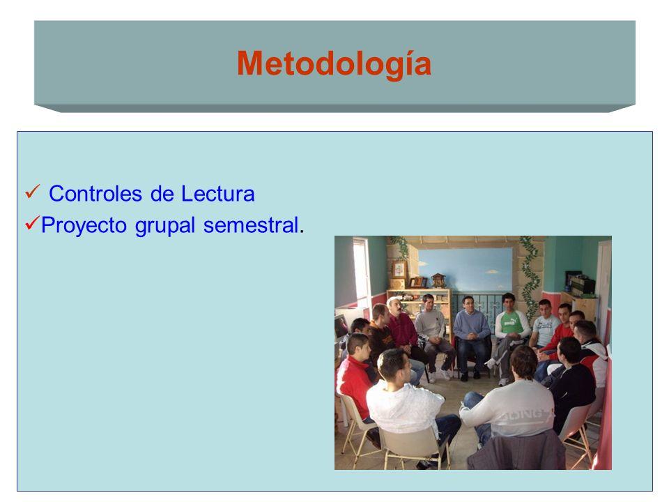 Metodología Controles de Lectura Proyecto grupal semestral.