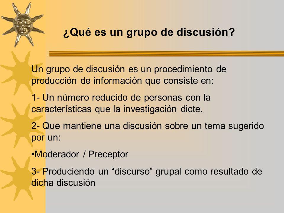 ¿Qué es un grupo de discusión