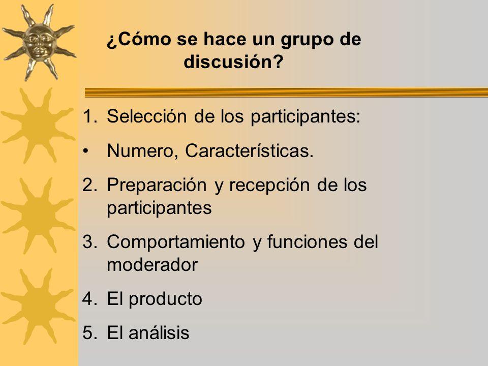 ¿Cómo se hace un grupo de discusión