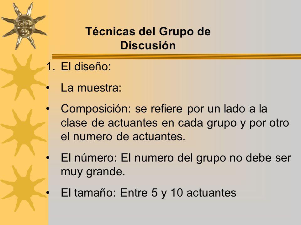 Técnicas del Grupo de Discusión
