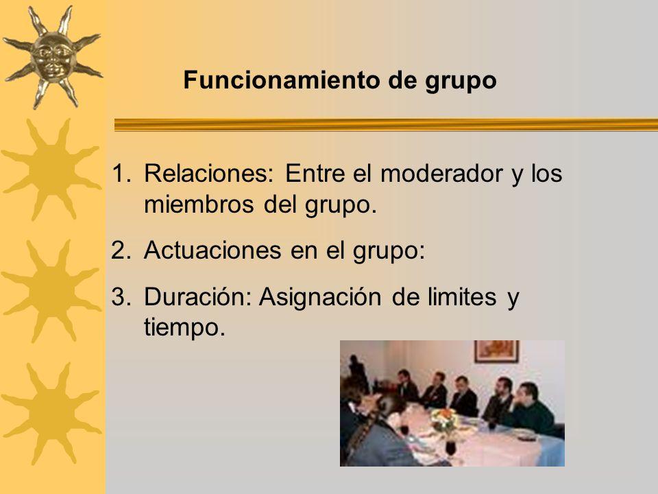 Funcionamiento de grupo