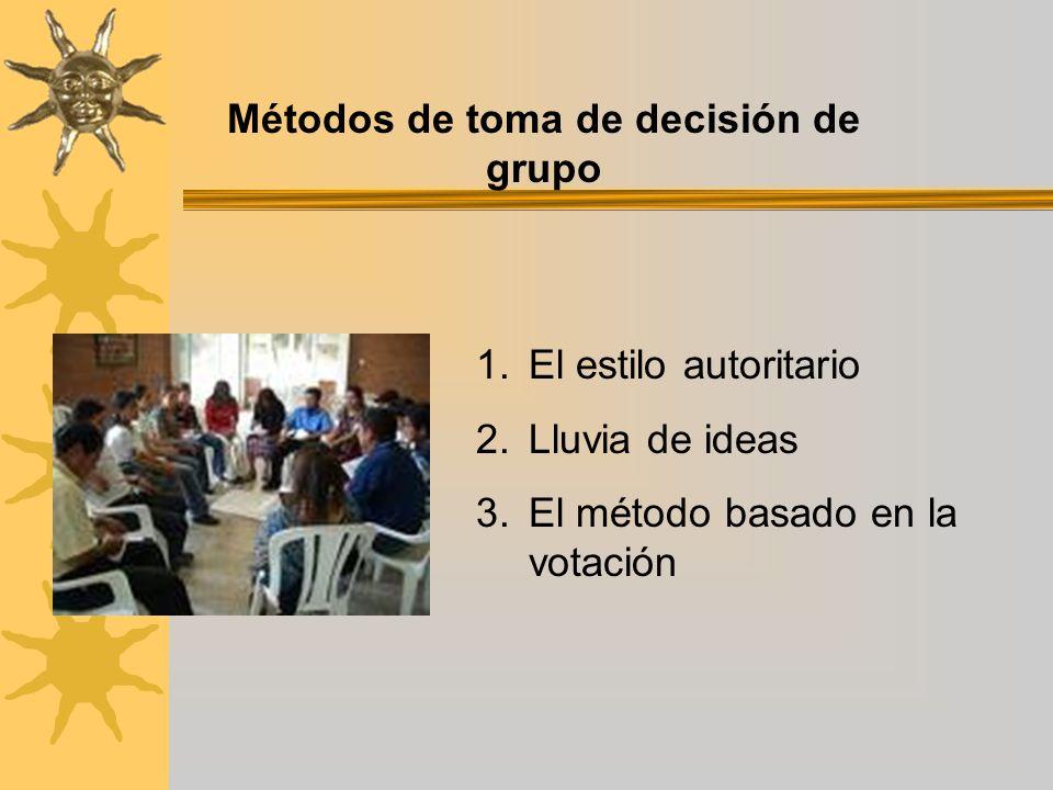 Métodos de toma de decisión de grupo