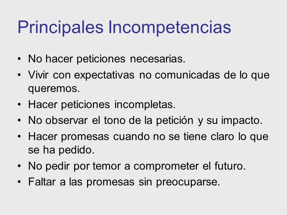Principales Incompetencias