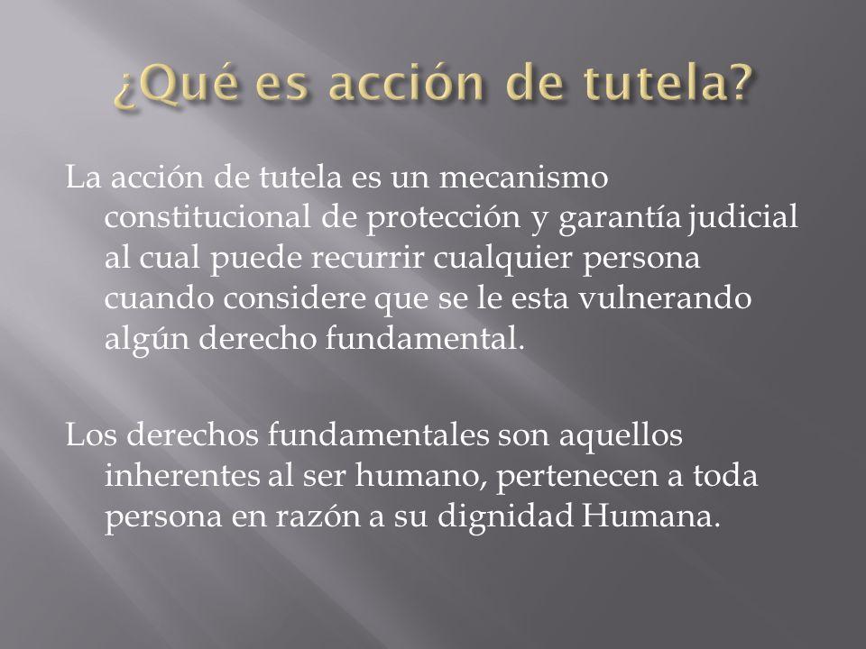 ¿Qué es acción de tutela
