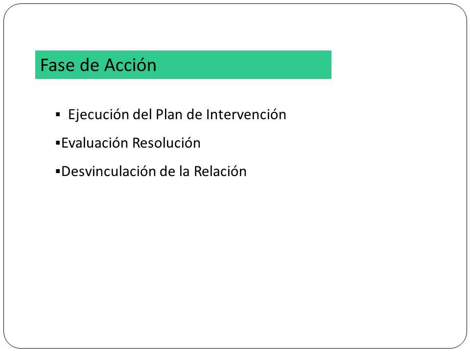 Fase de Acción Ejecución del Plan de Intervención