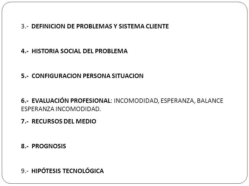 3.- DEFINICION DE PROBLEMAS Y SISTEMA CLIENTE