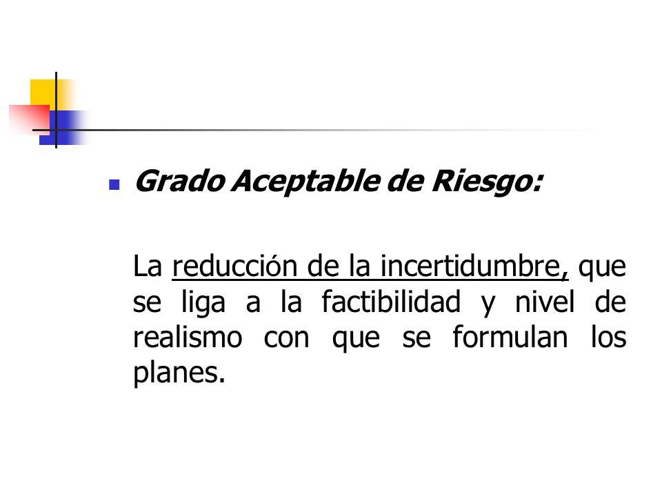 Grado Aceptable de Riesgo:
