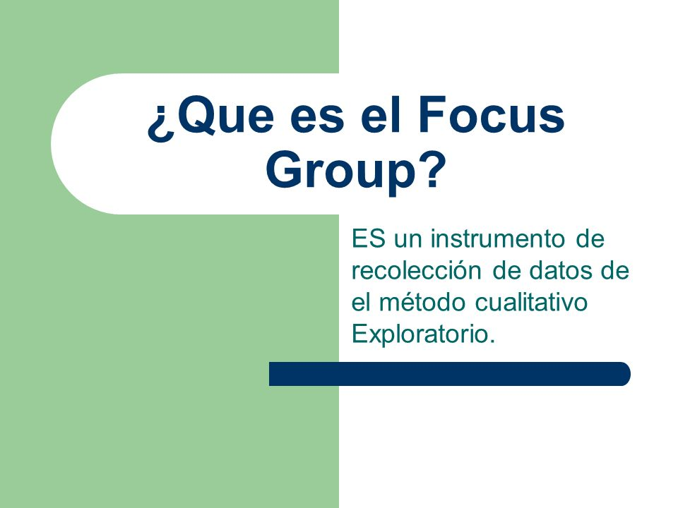 ¿Que es el Focus Group.
