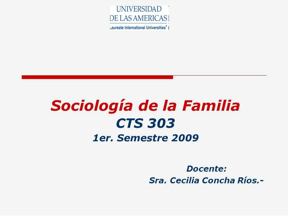 Sociología de la Familia CTS 303 1er. Semestre 2009