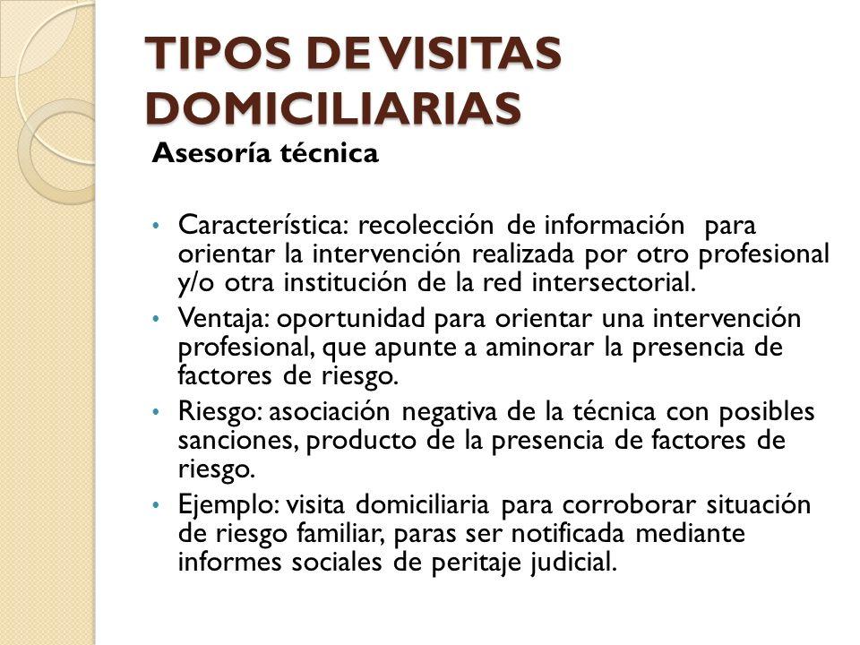 TIPOS DE VISITAS DOMICILIARIAS