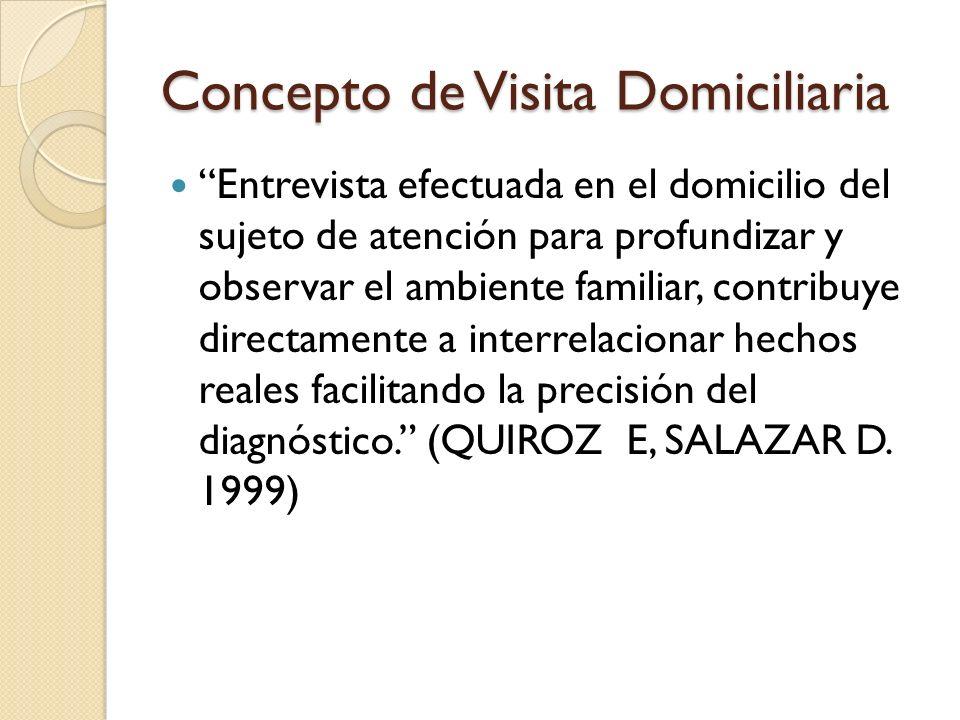 Concepto de Visita Domiciliaria