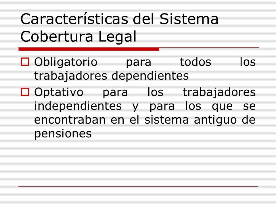 Características del Sistema Cobertura Legal