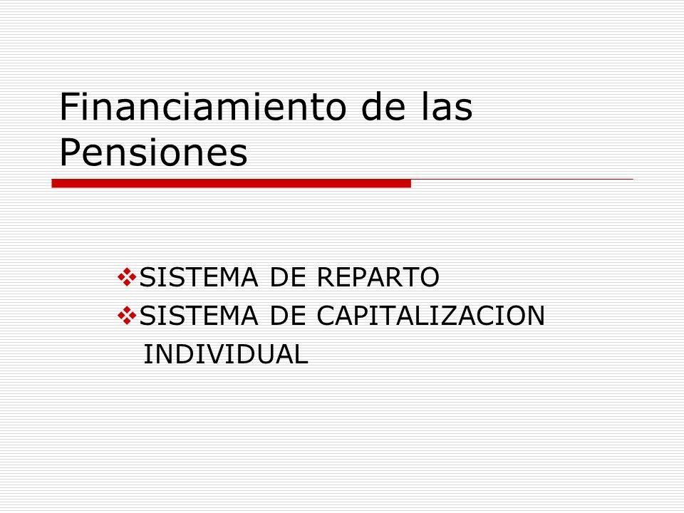Financiamiento de las Pensiones