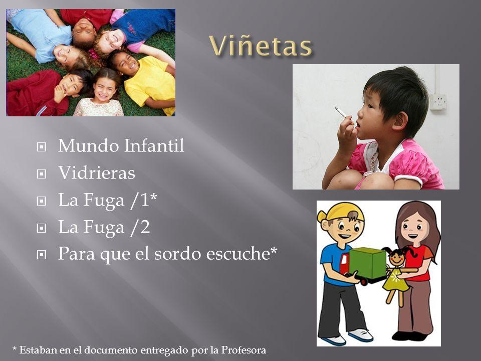 Viñetas Mundo Infantil Vidrieras La Fuga /1* La Fuga /2