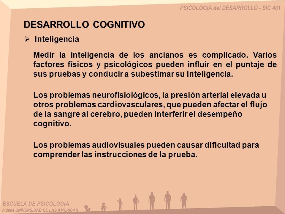 DESARROLLO COGNITIVO Inteligencia