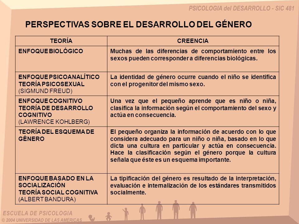 PERSPECTIVAS SOBRE EL DESARROLLO DEL GÉNERO