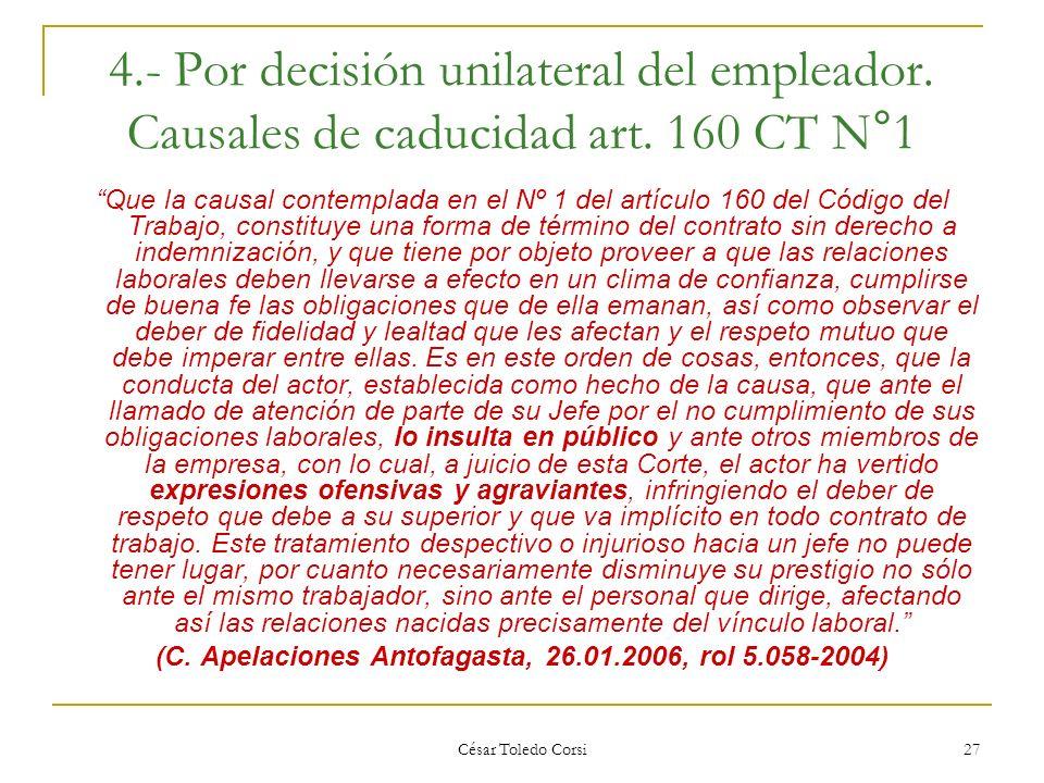 (C. Apelaciones Antofagasta, 26.01.2006, rol 5.058-2004)