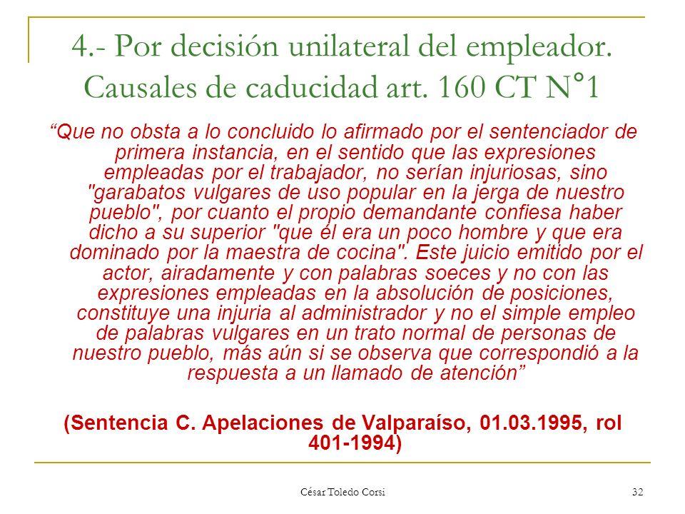 (Sentencia C. Apelaciones de Valparaíso, 01.03.1995, rol 401-1994)
