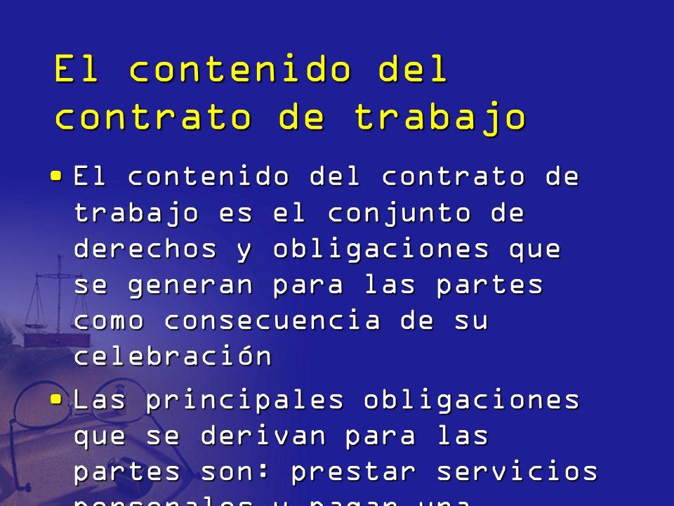 El contenido del contrato de trabajo