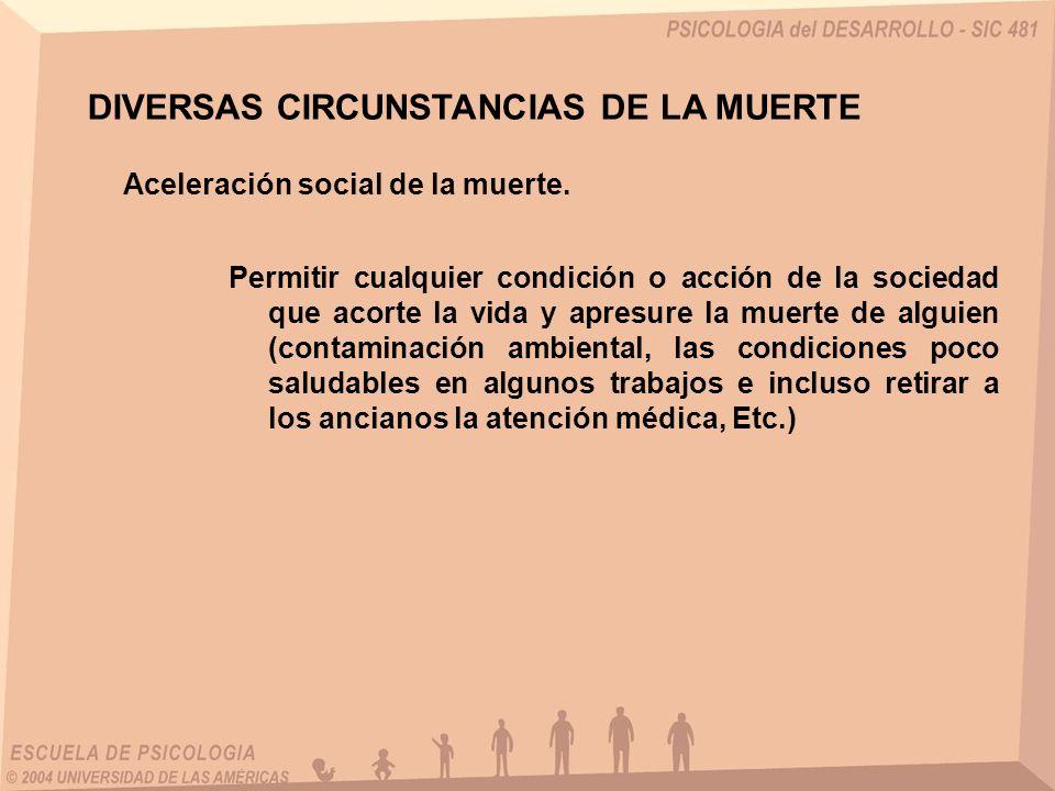 DIVERSAS CIRCUNSTANCIAS DE LA MUERTE