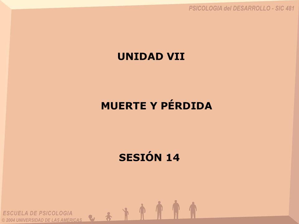 UNIDAD VII MUERTE Y PÉRDIDA SESIÓN 14